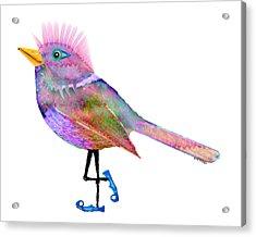 Moonworld Series -  Tweeters Acrylic Print by Moon Stumpp