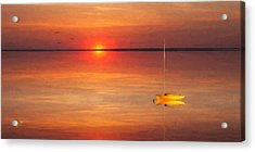Moored At Sunset Acrylic Print by Michael Petrizzo