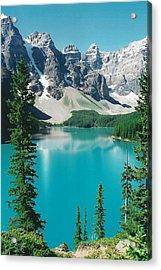 Moraine Lake 4 Acrylic Print by Shirley Sirois