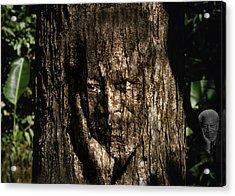 Morgan Freeman Roots Digital Painting Acrylic Print by Georgeta Blanaru