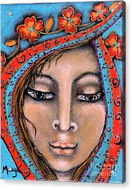 Morganna Acrylic Print by Maya Telford
