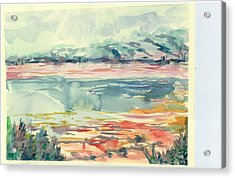 Mormon Lake Acrylic Print by Marilyn Miller