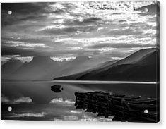 Morning At Lake Mcdonald Acrylic Print by Jeff R Clow