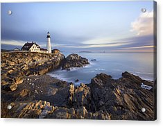 Morning At Portland Head Acrylic Print by Eric Gendron
