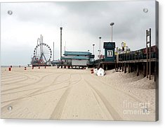 Morning At Seaside Heights Acrylic Print by John Rizzuto