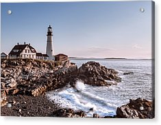 Morning At The Lighthouse Acrylic Print by Eduard Moldoveanu
