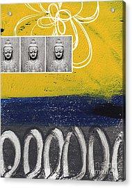 Morning Buddha Acrylic Print by Linda Woods