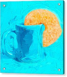 Morning Coffee And Donut Acrylic Print by Bob Orsillo