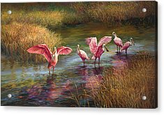 Morning Dance Acrylic Print by Laurie Hein