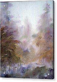 Morning Fog Acrylic Print by Alena Samsonov