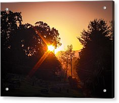 Morning Glare Acrylic Print by Robert J Andler