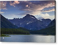 Morning Glow At Glacier Park Acrylic Print by Andrew Soundarajan
