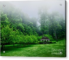Morning In The Park Acrylic Print by Mark Miller