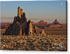Morning Light At Church Rock Acrylic Print by Sandra Bronstein