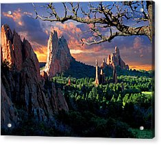 Morning Light At The Garden Of The Gods Acrylic Print by John Hoffman