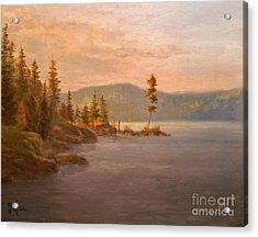 Morning Light On Coeur D'alene Acrylic Print by Paul K Hill