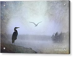 Morning Mist Along The Masagee Acrylic Print by The Stone Age