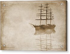 Morning Mist In Sepia Acrylic Print by John Edwards