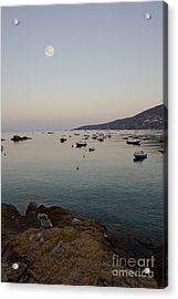 Morning Moon Acrylic Print by Sophie De Roumanie