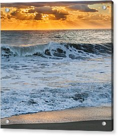 Morning Rays Square Acrylic Print by Bill Wakeley
