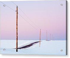 Morning Road Acrylic Print by Todd Klassy