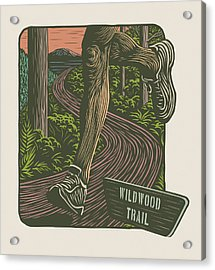 Morning Run On The Wildwood Trail Acrylic Print by Mitch Frey