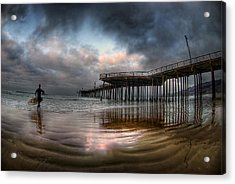 Morning Session In Pismo Acrylic Print by Sean Foster