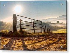 Morning Shadows Acrylic Print by Debra and Dave Vanderlaan