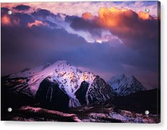 Morning Storm Acrylic Print by Darren  White
