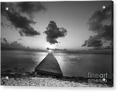 Morning Sunrise By The Dock Acrylic Print by Dan Friend