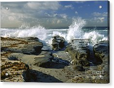 Morning Tide In La Jolla Acrylic Print by Sandra Bronstein