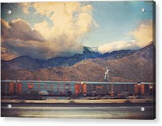 Morning Train Acrylic Print by Laurie Search
