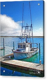 Morro Bay Fishing Boat Acrylic Print by Gregory Dyer