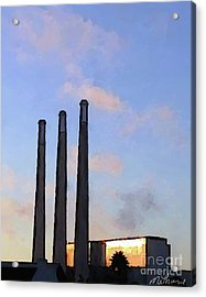 Morro Bay Power Plant Acrylic Print by Methune Hively