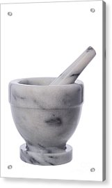 Mortar And Pestle Acrylic Print by Olivier Le Queinec