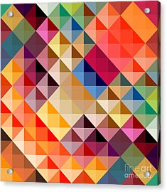Mosaic Acrylic Print by Donika Nikova