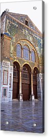 Mosaic Facade Of A Mosque, Umayyad Acrylic Print by Panoramic Images