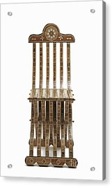 Mosaic Wooden Chair Acrylic Print by Sami Sarkis