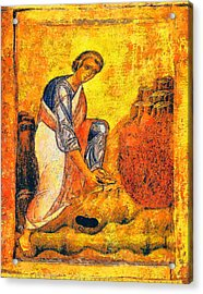 Moses And The Burning Bush Acrylic Print by George Rossidis