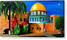 Mosque - Dome Of The Rock Acrylic Print by Patricia Awapara