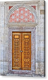 Mosque Doors 04 Acrylic Print by Antony McAulay
