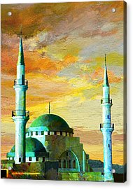 Mosque Jordan Acrylic Print by Catf
