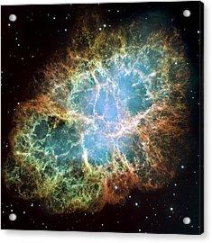 Most Detailed Image Of The Crab Nebula Acrylic Print by Adam Romanowicz