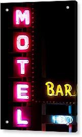 Motel Bar Hbo Acrylic Print by James BO  Insogna