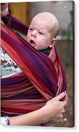 Mother And Baby Son Acrylic Print by Jim West
