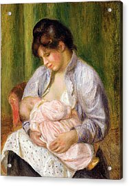 Mother And Child Acrylic Print by Pierre Auguste Renoir