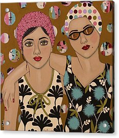 Mother And Daughter Acrylic Print by Stephanie Cohen