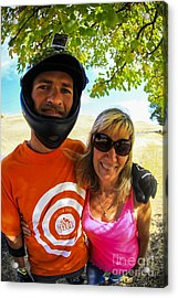 Acrylic Print featuring the photograph Mother And Son Fall 2014  by Carl Warren