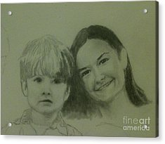 Mother And Son Acrylic Print by Frankie Thorpe