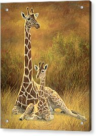 Mother And Son Acrylic Print by Lucie Bilodeau